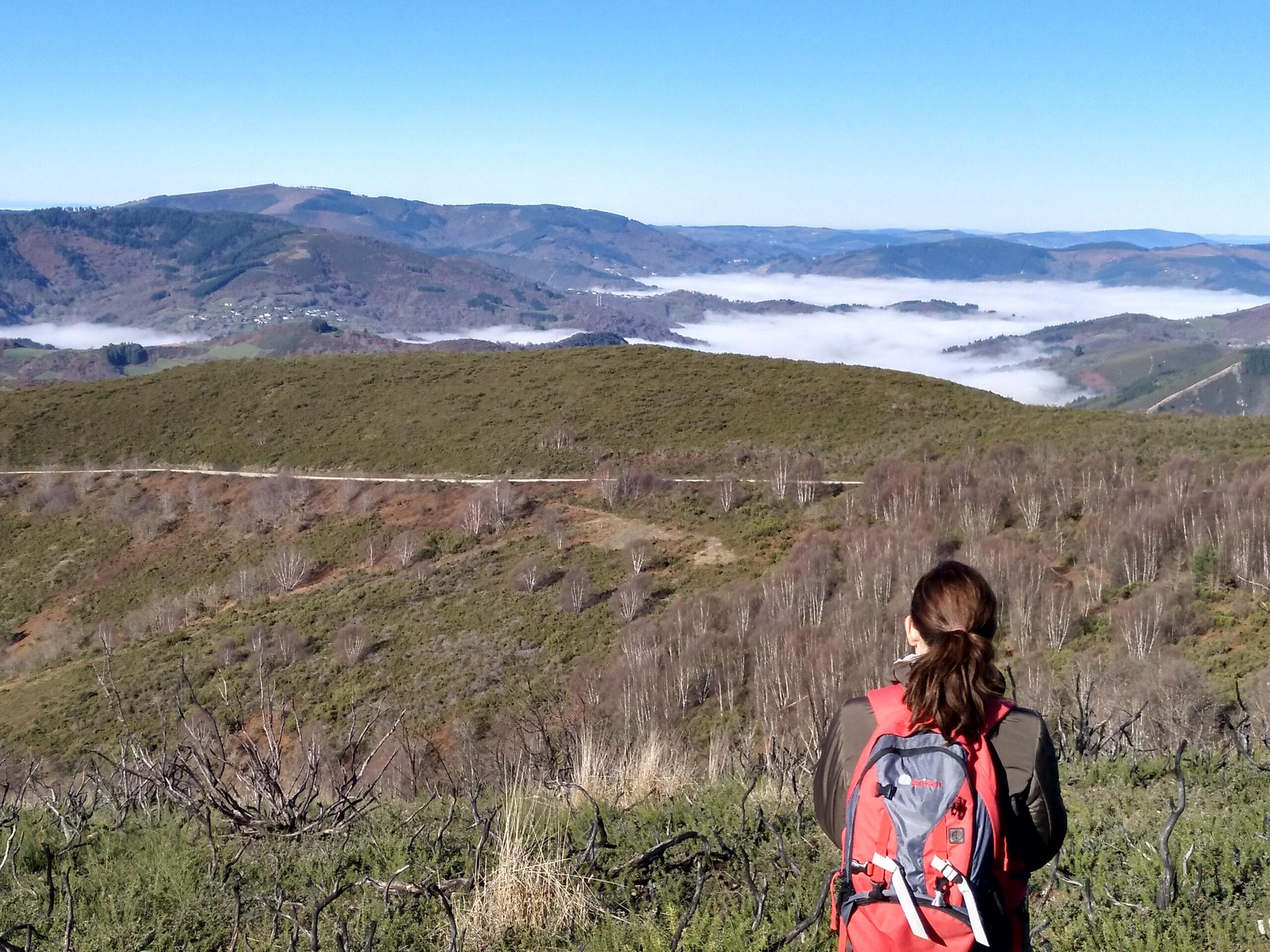 Mar de niebla desde el mirador de Castelo